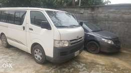 For hire Toyota Hiace Bus