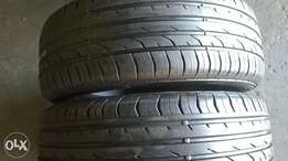 2 X 205/55/16 continental tyres for sale