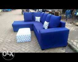 Great deal on beautiful blue L shaped sofa
