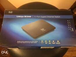 Linksys SE2500 5-Port Gigabit-Ethernet-Switch