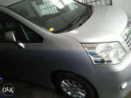 Toyota Noah silver colour valvematic engine new shape 2010 model.