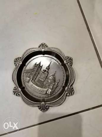 Rich bronze ash tray from London