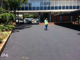 Tar surfacing / brick paving & Tennis courts
