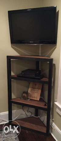 [ Customized industrial steel furniture - Steel Corner Shelf ]