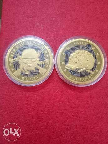 The Heads We Win ,The Tail You Lose challenge skull Coin