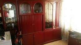 Vintage Wall unit and Rotating TV stand for sale