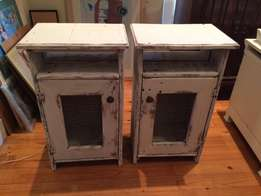 Lovely pair of rustic pedestals