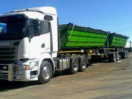 34 ton side tipper truck and trailer needed urgently