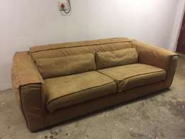 Designer Leather Couch/Moving Act Now