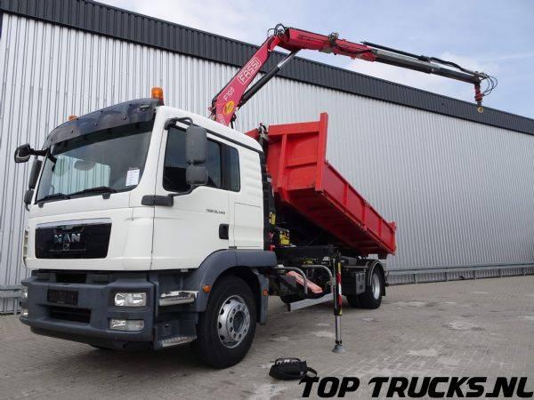 MAN TGM 18.340 - Fassi 10 TM Kraan, Crane, Kran - 10T Haakarm... - 2012