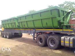Twin bin side tipper for sale