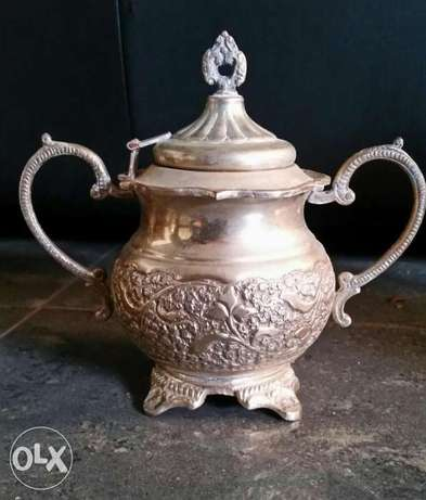 Very Old Vase silver plate & copper made in germany