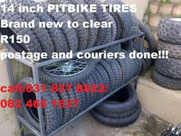 12 and 14inch pitbike tires brand new and used to clear at clives bike