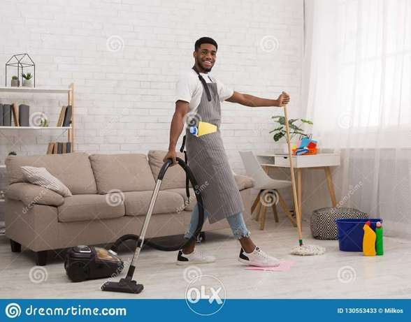 African male cleaner per hour