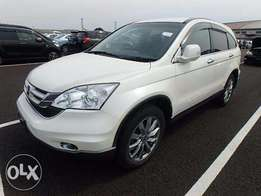 Honda CRV Year 2010 Model Automatic Transmission 4WD White Color