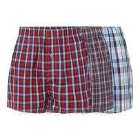 3pack cotton red checked comfy men boxers(3pairs)
