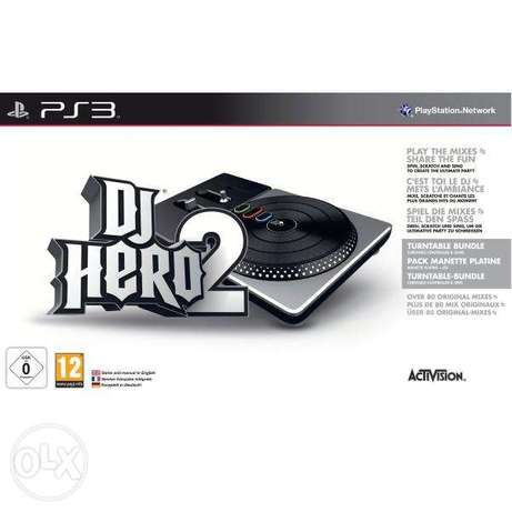 DJ HERO 2 with turntable controller USED for ps3