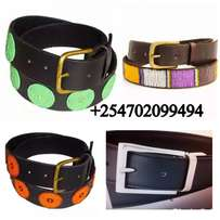 Beaded/Plain leather Belts