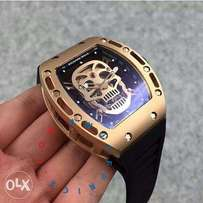 Richard mille skull face rubber strap,we deliver anywhere in nigeria
