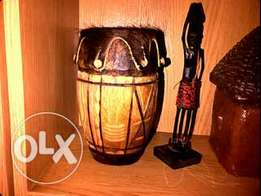 Small wooden african drum