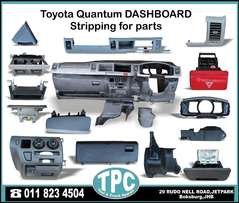 Toyota QUANTUM New & Used Replacement TAXI SPARE PARTS for sale at TPC