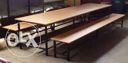 school, colleges dining benches and tables
