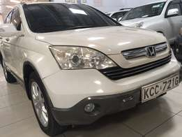 Honda CRV pearl white KCC with leather interior