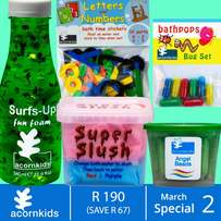 Fun and educational bath products