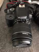 Canon 100d with 75-300mm and 18-55mm amazing condition.