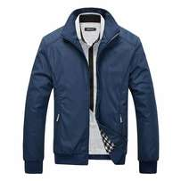Men's stand collar zipper jackets coat