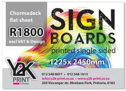 Chromodeck Flatsheet signs