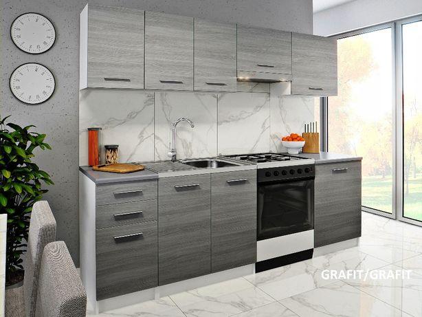 Meble Kuchenne Malta 240cm Kuchnia Tanie Nowe 4 Kolory Blat