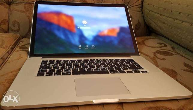 RETINA Slim Mac Book Pro - Intel Core i7 - Ram 8GB- SSD 256- Screen 15