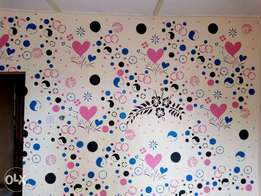 Wall design and house painting