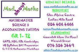 Gr10, Gr11 & Gr12 Maths and Science Workshops.