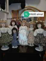 Rare old dolls on stands