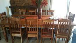 Dining toon table & 10 chairs