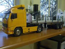 Remote control truck and trailers for sale.