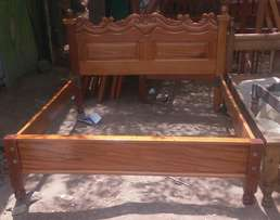 Pure solid mahogany 5 by 6 bed