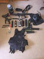Tipman A5 Paintball gun and Gear