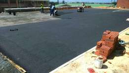 Industrial or domestic tar surfacing and paving , driveways ,