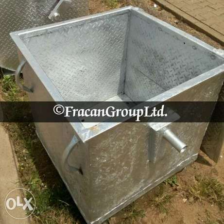 Galvanized 1200 liter AEPB specified waste bin . Free delivery Abuja - image 6