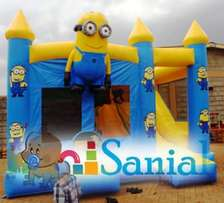 Themed bouncing castles and trampolines.