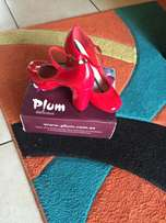 plum high heels brand new
