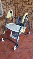 2 in 1 Swing and High chair.