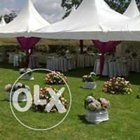 high peak tents,tables,chairs and decor