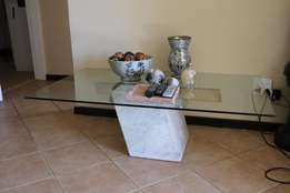 Coffee table - granite and glass.