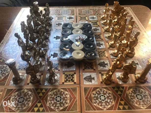 Mozaic Foldable Wooden Chess and Backgammon!