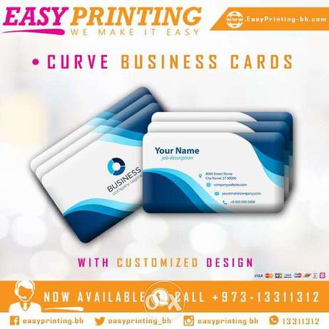 Curve Cards Printing with Free Delivery Service!