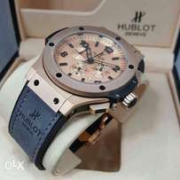 Hublot Geneve rose gold wrist watch